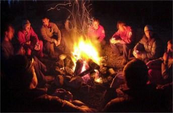Partage autour du feu